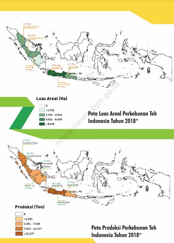 Luas Areal dan Produksi Teh 2018
