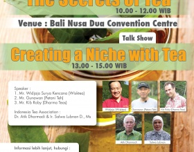 The Secrets of Tea Seminar, 17th March 2017 at Bali Nusa Dua Convention Centre